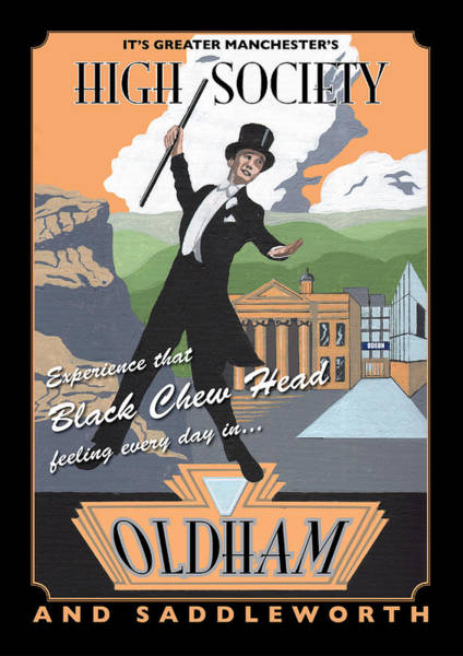 Greater Manchester Wall Art - Painting - Oldham Poster By Statement Artworks by Eric Jackson