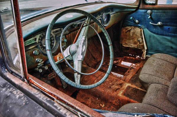 Pick Up Truck Digital Art - Olds Interior by Michael Thomas