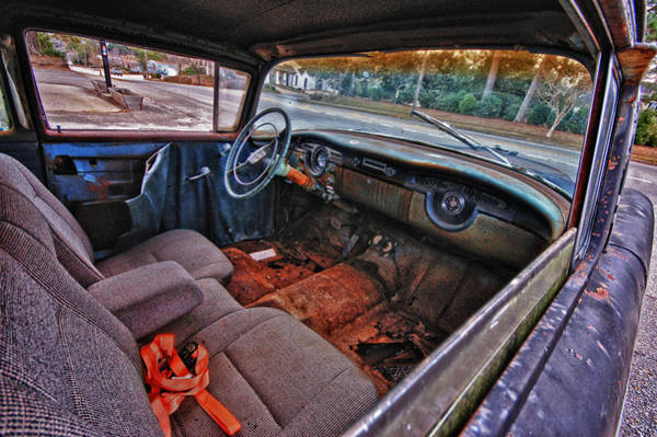 Painting - Olds Interior Passenger Side by Michael Thomas