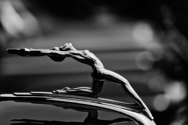 Hood Ornament Photograph - Oldsmobile 1933 Hood Ornament by Carol Leigh