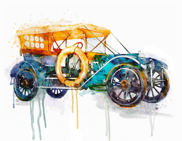 Oldsmobile Wall Art - Painting - Oldsmobile  by Marian Voicu