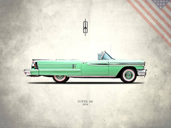 Oldsmobile Wall Art - Photograph - Oldsmobile Super 88 1958 by Mark Rogan