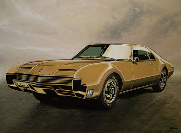 Wall Art - Painting - Oldsmobile Toronado 1965 Painting by Paul Meijering