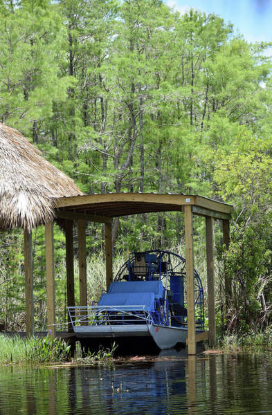 Airboat Photograph - Oldtimer Airboat by William Tasker