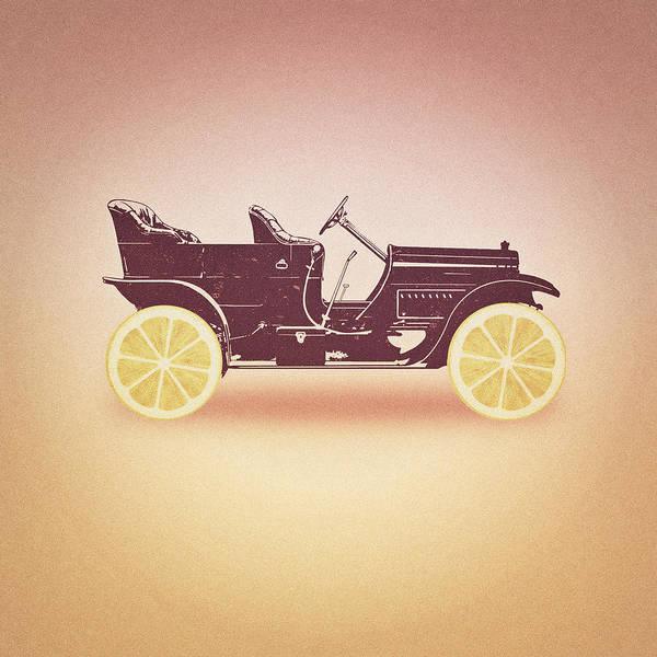 Cool Car Digital Art - Oldtimer Historic Car With Lemon Wheels by Philipp Rietz