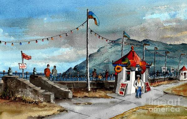 Painting - Oldy Worldy Prom Bray by Val Byrne