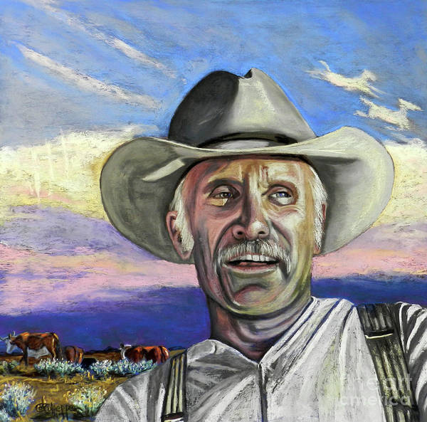 Gus Wall Art - Pastel - Ole Gus by Cat Culpepper
