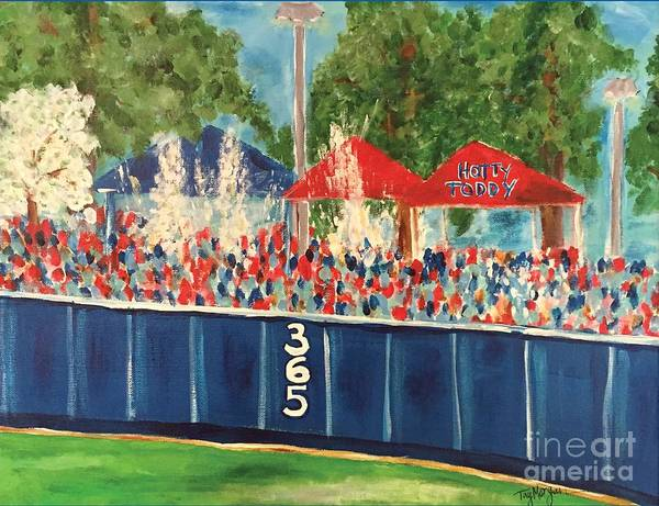 Baseball Painting - Ole Miss Swayze Beer Showers by Tay Cossar Morgan