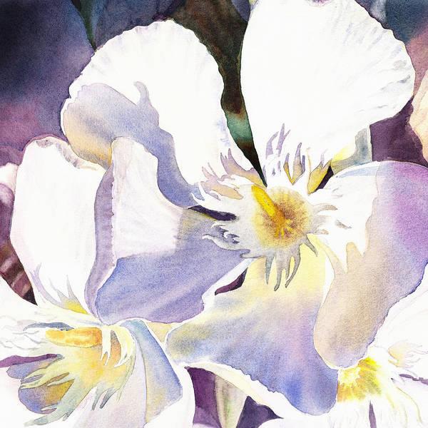 Wall Art - Painting - Oleander Flower - Irina Sztukowski by Irina Sztukowski