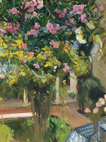 1923 Painting - Oleanders by Joaquin Sorolla