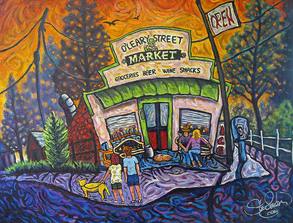 Flagstaff Painting - O'leary Street Market by Steve Lawton