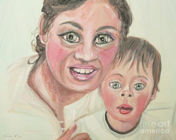 Painting - Olga And Lev. Portrait 2 by Oksana Semenchenko