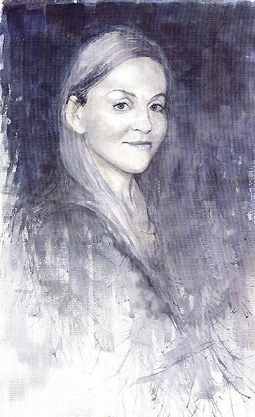 Watercolour Painting - Olga by Yuriy Shevchuk