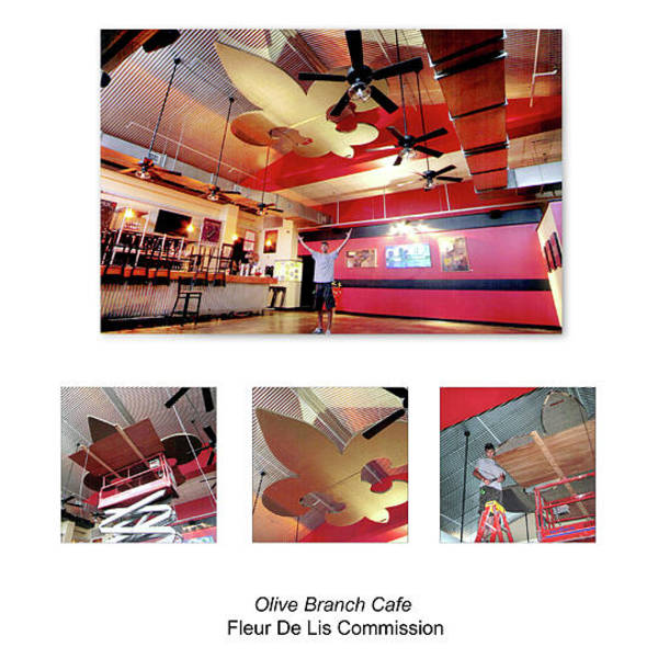 Wall Art - Sculpture - Olive Branch Cafe by Benjamin Bullins