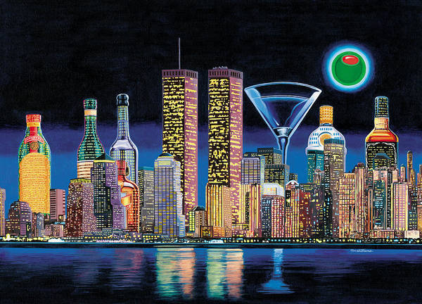 Martini Painting - Olive Ny by Tim Williams