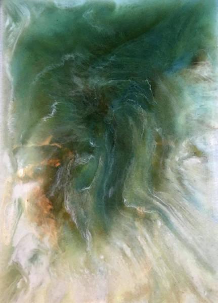 Wall Art - Painting - Olive Whorl by Alynne Landers