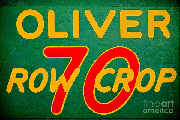 Vintage Photograph - Oliver 70 Row Crop by Olivier Le Queinec