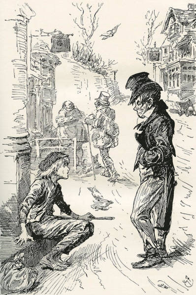 Artful Drawing - Oliver Falls In With The Artful Dodger by Vintage Design Pics