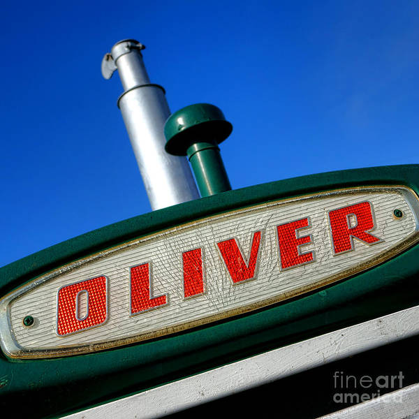 Wall Art - Photograph - Oliver Tractor Nameplate by Olivier Le Queinec