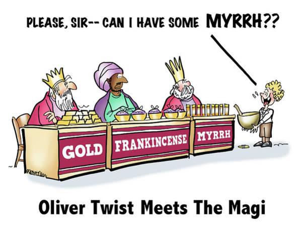 Digital Art - Oliver Wants Some Myrrh by Mark Armstrong