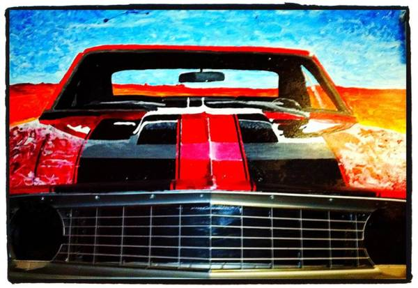 Painting - Olivers Camaro-  by Neal Barbosa