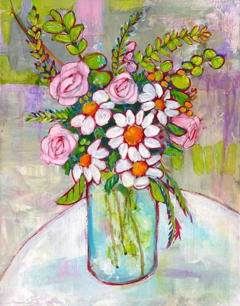 Wall Art - Painting - Olivia Daisy Flowers by Blenda Studio