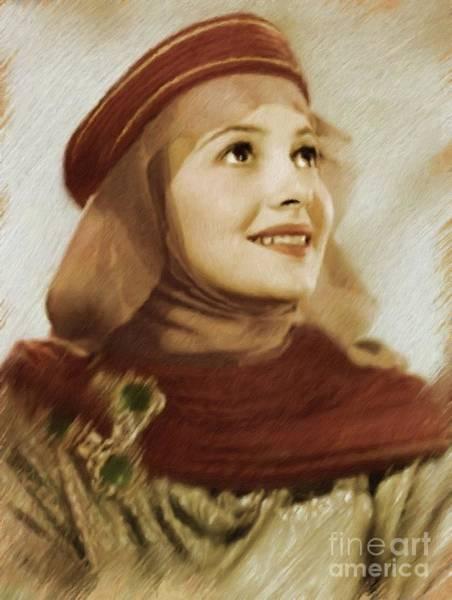 Wall Art - Painting - Olivia De Haviland, Vintage Actress by Mary Bassett