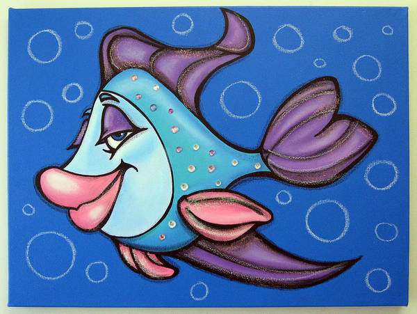 Morea Wall Art - Painting - oLiViA FiSH by Mara Morea