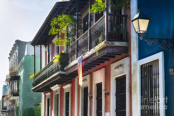 Wall Art - Photograph - Old San Juan Street In Atmospheric Light by George Oze