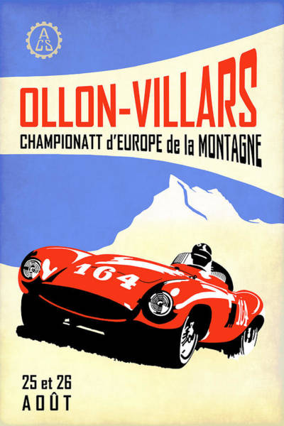Wall Art - Photograph - Ollon Villars Hill Climb Poster by Mark Rogan
