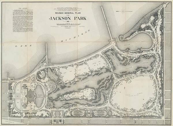 Wall Art - Photograph - Olmstead Bros. Jackson Park Landscape Plan - Chicago 1895 by Daniel Hagerman