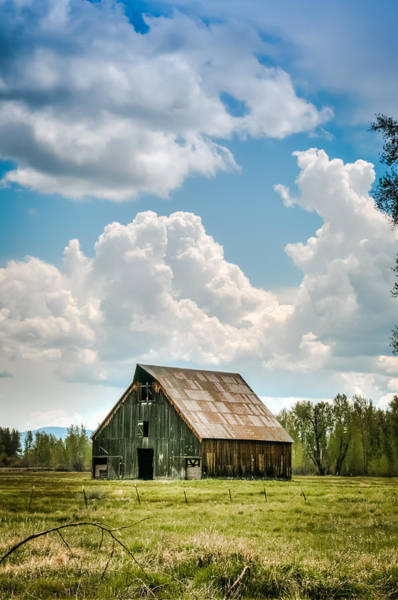 Photograph - Olsen Barn In Blue by Jan Davies