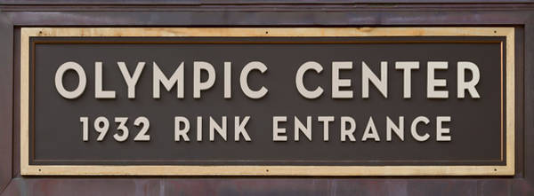 Olympics Photograph - Olympic Center 1932 Rink Entrance by Stephen Stookey