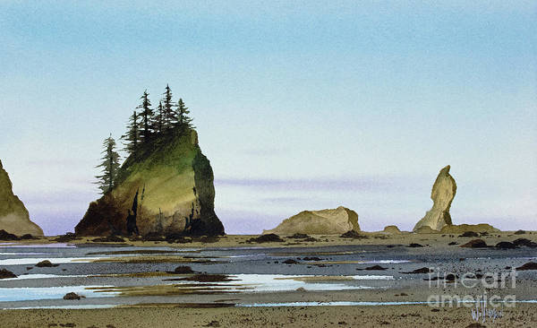 Wall Art - Painting - Olympic Coast Low Tide by James Williamson