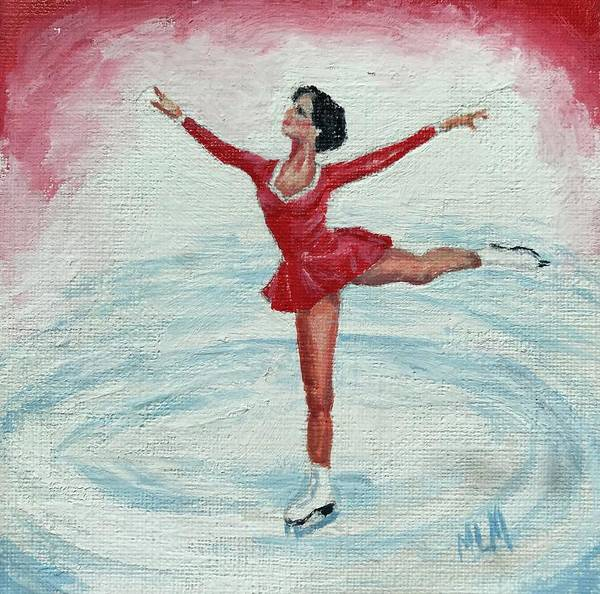 Olympic Figure Skating Painting - Olympic Figure Skater by ML McCormick