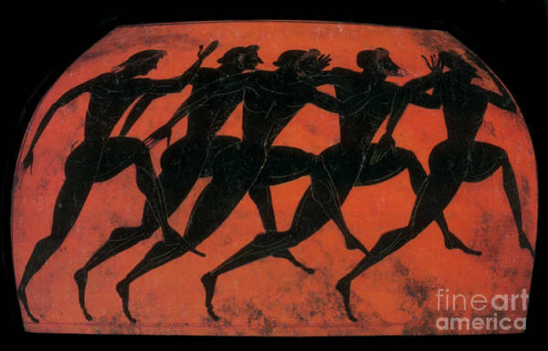Photograph - Olympic Games, Black-figure Pottery by Science Source