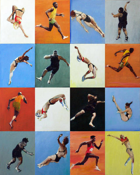 High Jump Painting - Olympic Games by Nicholas Stedman