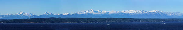 Photograph - Olympic Mountains From Shoreline by Mary Jo Allen
