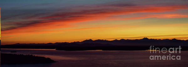 Wall Art - Photograph - Olympic Mountains Sunset Panorama by Mike Reid