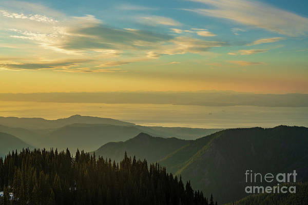 Olympic Peninsula Photograph - Olympic Peninsula Sunset Layers by Mike Reid