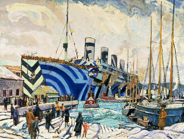 Painting - Olympic With Returned Soldiers by Arthur Lismer