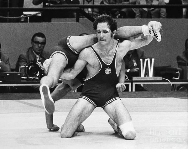 Photograph - Olympics: Wrestling, 1972 by Granger