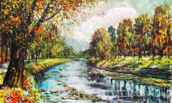 Wishing Well Painting - Olza River by Dariusz Orszulik