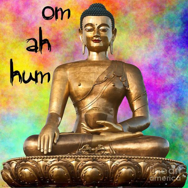 Mixed Media - Om Ah Hum by Lita Kelley