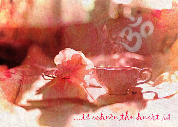 Digital Art - Om Is Where The Heart Is 2016 by Kathryn Strick