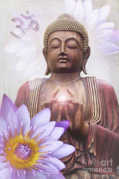 Photograph - Om Mani Padme Hum - Buddha Lotus by Sharon Mau