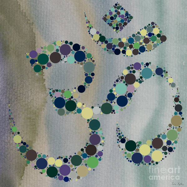 Digital Art - Om Symbol by Lita Kelley