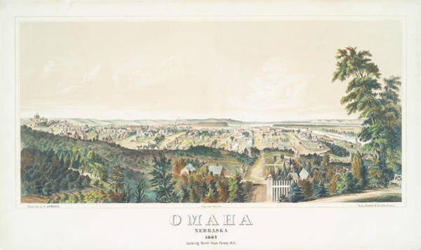 Wall Art - Photograph - Omaha, Nebraska Looking North From Forest Hill 1867 by Ricky Barnard