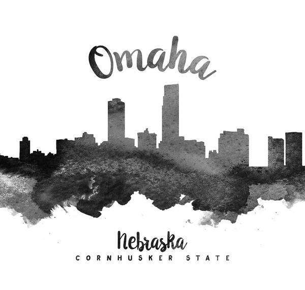 Wall Art - Painting - Omaha Nebraska Skyline 18 by Aged Pixel