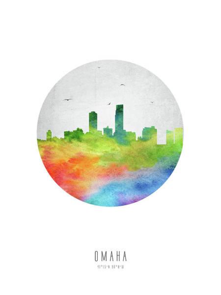 Nebraska Digital Art - Omaha Skyline Usneom20 by Aged Pixel